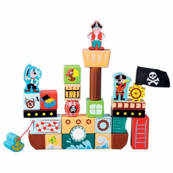 Wooden Pirate Cubes