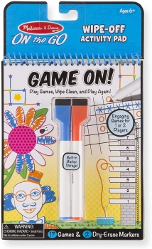 Game On! Dry-Erase Travel Activity Pad Game