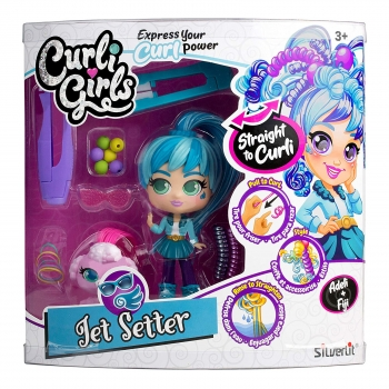 Curli Girls Deluxe Curli Doll Set with Pet