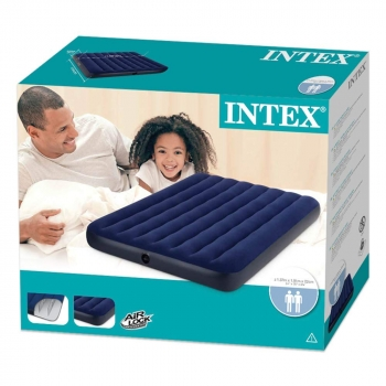 Inflatable Full Size Dura-Beam Blue AirBed
