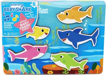 Baby Shark Chunky Wooden Sound Puzzle