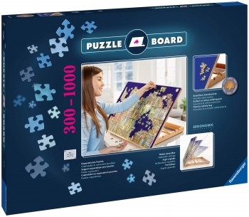 Wooden Jigsaw Puzzle Board Easel Stand