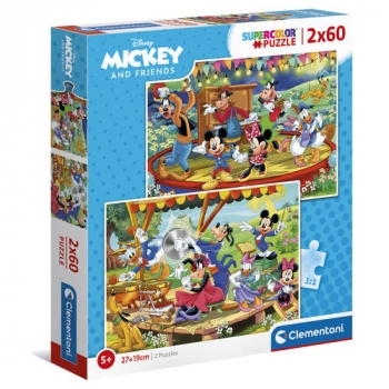 Mickey Mouse - 2 puzzles x 60 pieces Mickey and Friends