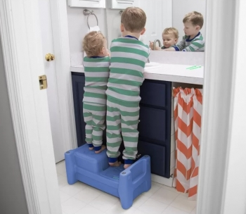 Two Child Step Stool & Seat (Periwinkle Blue)