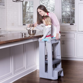 Toddler Tower Adjustable Stool (Gray)