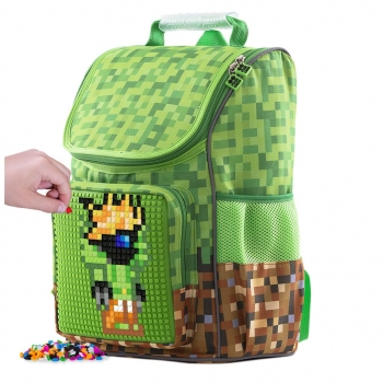 Chequered Green Backpack, 42cm