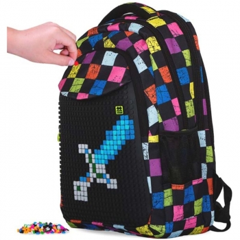Checked Patterns Backpack, 42cm