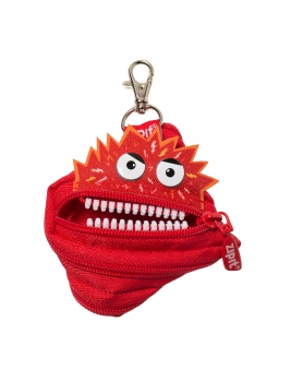Zipit Monster Mini Pouch Clip Strip, Red