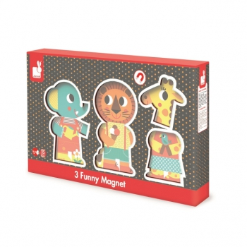Funny Wooden Magnets - A Day at The Zoo