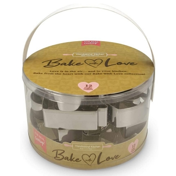 Bake With Love Cookie Cutter 12 pcs Set
