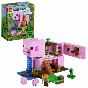 Lego Minecraft Thee Pig House, 490 Pcs
