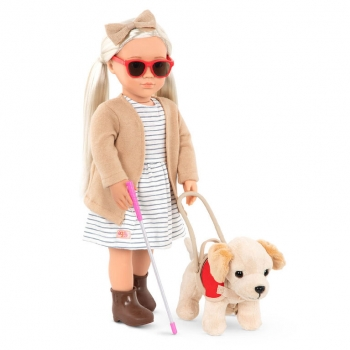 Marlow Doll With Guide Dog, 46cm