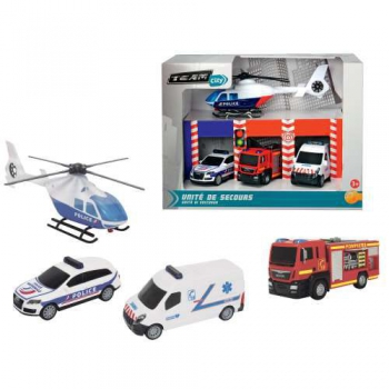 Set of Rescue Cars