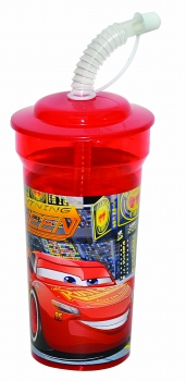 Cars Cup With Straw