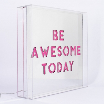 Acrylic Be Awesome Today Light Box