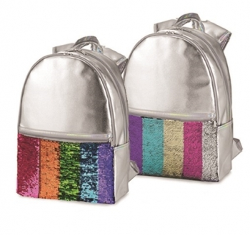 Sequin Leather Backpack