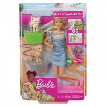 Barbie Play N Wash Pet And Doll