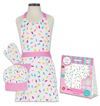 Sprinkles 100% Cotton Apron, Mitt and Chef's Hat
