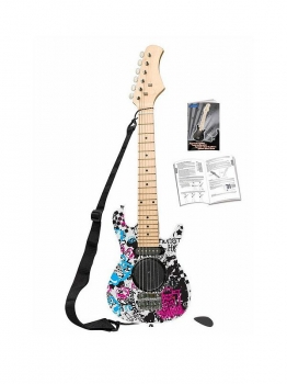 Electric Guitar with Built-In Speaker