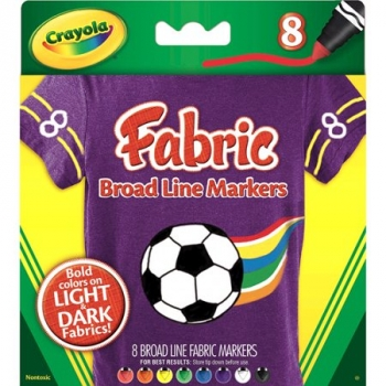 Fabric broad line markers