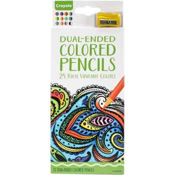 Dual-ended colored pencil
