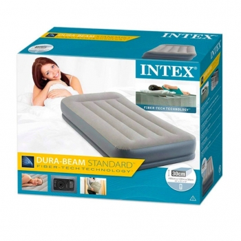 Inflatable Single Mattress In Fiber Tech With Pump