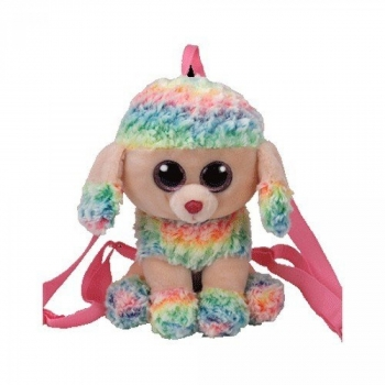 TY Gear Rainbow Poodle Boo Backpack