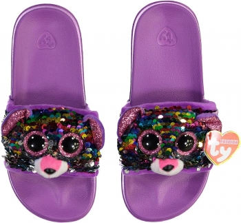 TY Rainbow Poodle- Sequin Pool Slippers