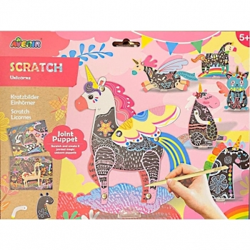 Scratch Art - Jointed Puppets Forest Animals