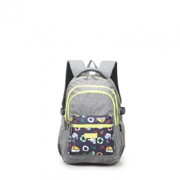 Faber-Castell School Backpack - Grey/Yellow