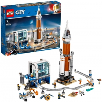 City Space - Deep Space Rocket and Launch Control , 837 Pcs