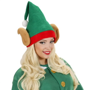 Smiffy's Elf Hat Green with Ears