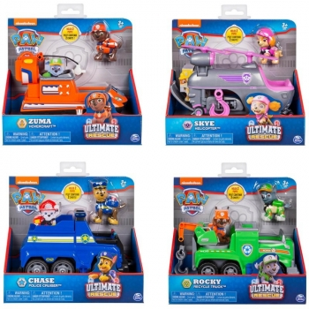 Paw Partol Ultimate Rescue Vehicles, 4 assorted Designs