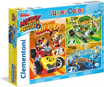 Mickey and The Roadster Racers-3x48 Pcs