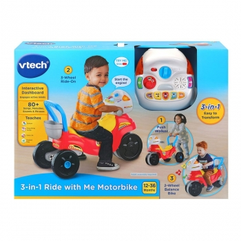3 In 1 Ride With Me Motorbike