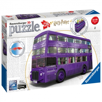 Harry Potter Knight Bus 216 Piece 3D Jigsaw Puzzle