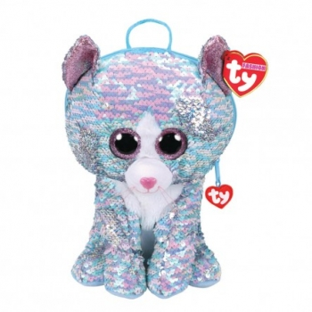 Ty Fashion - Sequin Cat Whimsy Blue Backpack