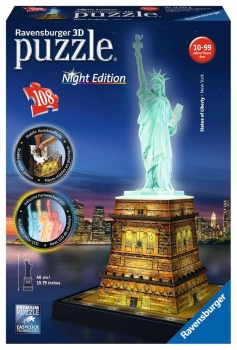Statue of Liberty at Night 3D Puzzle 216 pieces