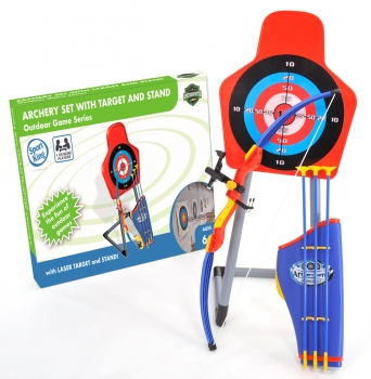 Archery Complete Set with Red Laser Target and Stand